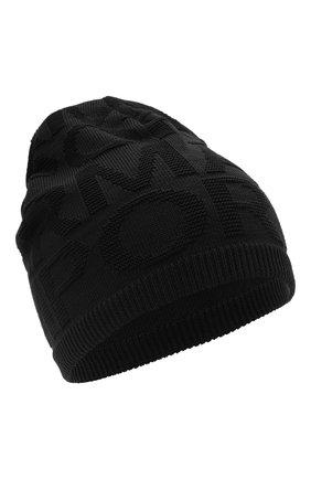 Детский комплект из шапки и шарфа EMPORIO ARMANI черного цвета, арт. 407512/1A762 | Фото 2