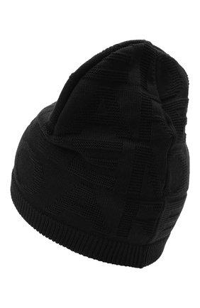 Детский комплект из шапки и шарфа EMPORIO ARMANI черного цвета, арт. 407512/1A762 | Фото 3 (Материал: Текстиль, Шерсть, Синтетический материал)
