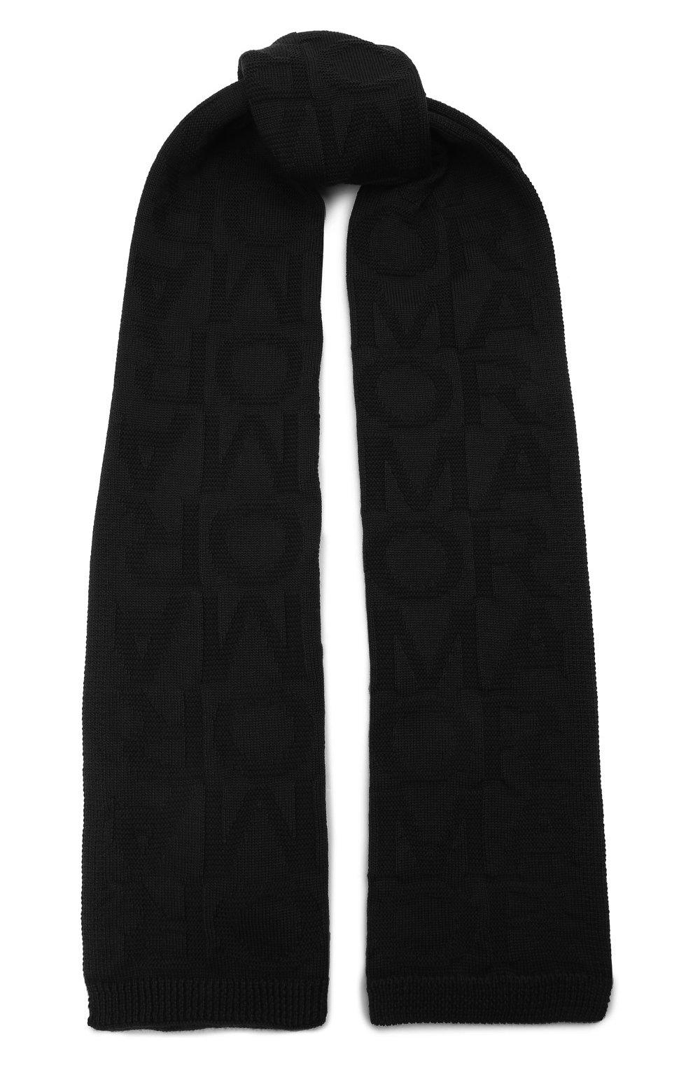 Детский комплект из шапки и шарфа EMPORIO ARMANI черного цвета, арт. 407512/1A762 | Фото 4 (Материал: Текстиль, Шерсть, Синтетический материал)
