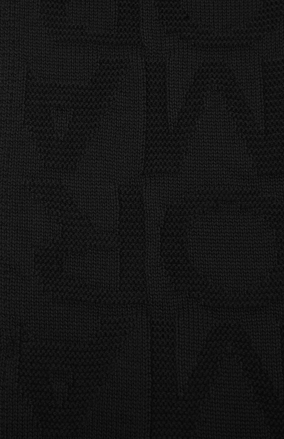 Детский комплект из шапки и шарфа EMPORIO ARMANI черного цвета, арт. 407512/1A762 | Фото 5 (Материал: Текстиль, Шерсть, Синтетический материал)