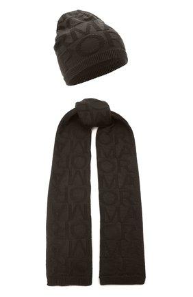 Детский комплект из шапки и шарфа EMPORIO ARMANI хаки цвета, арт. 407310/1A749 | Фото 1