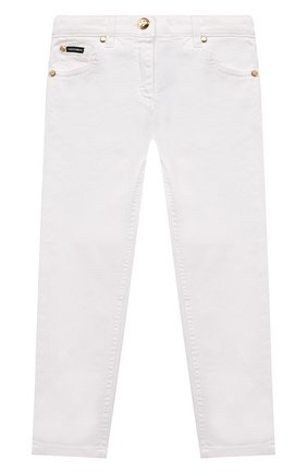Детские джинсы DOLCE & GABBANA белого цвета, арт. L51F69/LD868/2-6 | Фото 1