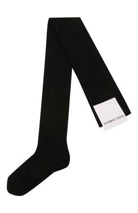 Детские хлопковые колготки DOLCE & GABBANA черного цвета, арт. LB1A88/LK106 | Фото 1 (Материал: Текстиль, Хлопок)