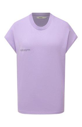 Женская хлопковая футболка PANGAIA сиреневого цвета, арт. 20JTU02-012-JM002 | Фото 1