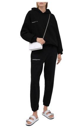 Женские хлопковые джоггеры PANGAIA черного цвета, арт. 20FPU01-001-FEM001   Фото 2