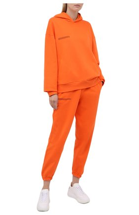 Мужского хлопковое худи PANGAIA оранжевого цвета, арт. 20FHU01-013-FEM001 | Фото 2 (Женское Кросс-КТ: Худи-одежда, Худи-спорт; Стили: Спорт-шик)