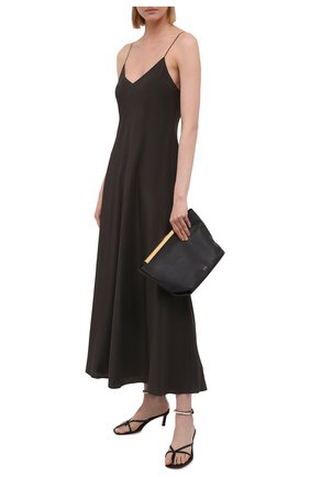 Женское шелковое платье THE ROW хаки цвета, арт. 5617W1099 | Фото 2