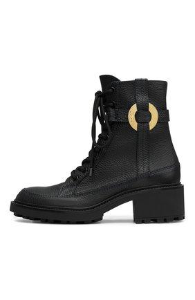 Женские кожаные ботинки darryl CHLOÉ черного цвета, арт. C21A481/93   Фото 1