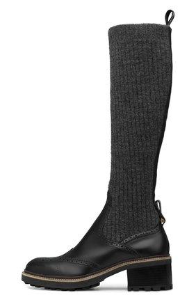 Женские комбинированные сапоги franne CHLOÉ черного цвета, арт. C21A495/N4 | Фото 1