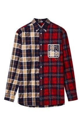 Мужская рубашка LOEWE красного цвета, арт. H526Y05W35/ | Фото 1