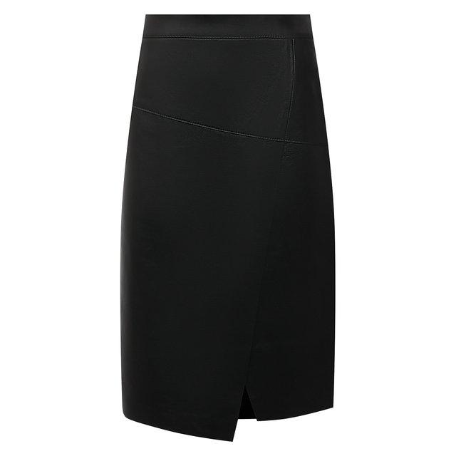 Кожаная юбка BOSS
