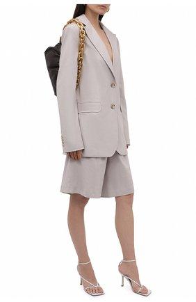 Женский жакет изо льна и хлопка LESYANEBO зеленого цвета, арт. SS21/Н-468/L | Фото 2 (Материал подклада: Вискоза; Рукава: Длинные; Длина (для топов): Удлиненные; Стили: Романтичный; Случай: Повседневный; Женское Кросс-КТ: Жакет-одежда; 1-2-бортные: Однобортные; Материал внешний: Хлопок)