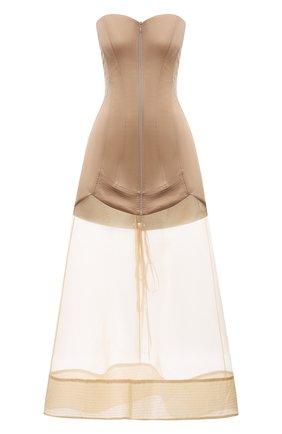 Женское шелковое платье RUBAN бежевого цвета, арт. RТS21-78.1.52.3   Фото 1