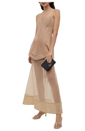 Женское шелковое платье RUBAN бежевого цвета, арт. RТS21-78.1.52.3   Фото 2
