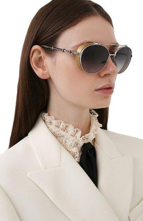 Женские солнцезащитные очки BALMAIN серебряного цвета, арт. BPS-111B-60 | Фото 2