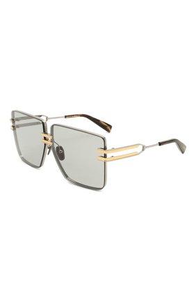 Женские солнцезащитные очки BALMAIN серебряного цвета, арт. BPS-109B-66 | Фото 1