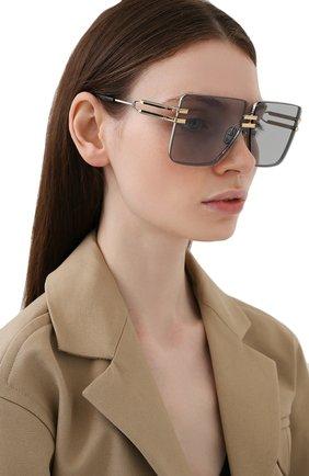 Женские солнцезащитные очки BALMAIN серебряного цвета, арт. BPS-109B-66 | Фото 2
