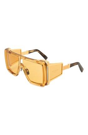 Женские солнцезащитные очки BALMAIN золотого цвета, арт. BPS-107C-61 | Фото 1