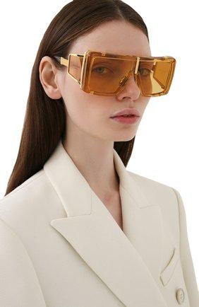 Женские солнцезащитные очки BALMAIN золотого цвета, арт. BPS-107C-61 | Фото 2