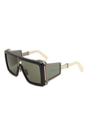 Женские солнцезащитные очки BALMAIN черного цвета, арт. BPS-107B-61 | Фото 1