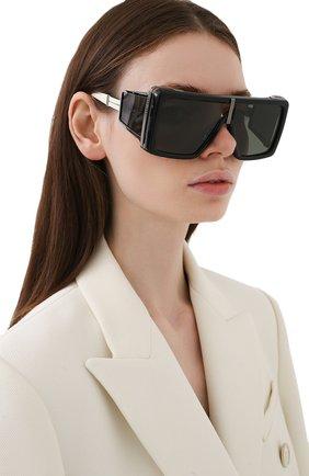 Женские солнцезащитные очки BALMAIN черного цвета, арт. BPS-107B-61 | Фото 2