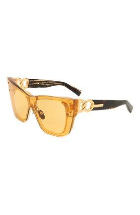 Женские солнцезащитные очки BALMAIN золотого цвета, арт. BPS-106C-150 | Фото 1