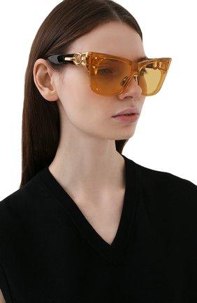 Женские солнцезащитные очки BALMAIN золотого цвета, арт. BPS-106C-150 | Фото 2