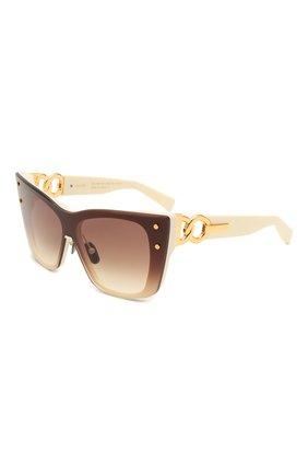 Женские солнцезащитные очки BALMAIN кремвого цвета, арт. BPS-106B-150 | Фото 1