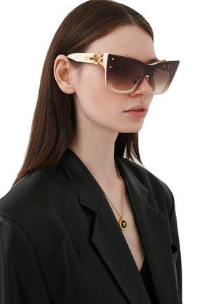Женские солнцезащитные очки BALMAIN кремвого цвета, арт. BPS-106B-150 | Фото 2