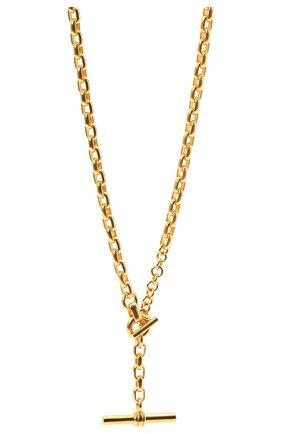 Женское колье BOTTEGA VENETA золотого цвета, арт. 657482/VAHU0   Фото 2