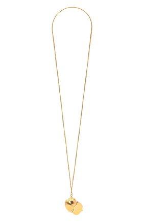 Женская кулон на цепочке JIL SANDER золотого цвета, арт. JSWS831170/WSS80045   Фото 1
