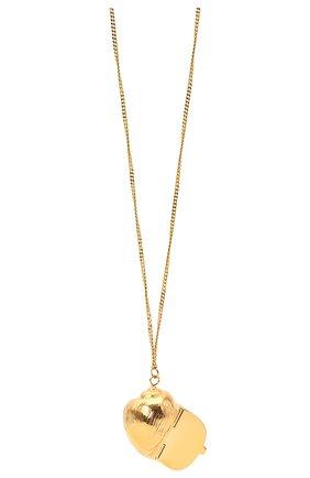 Женская кулон на цепочке JIL SANDER золотого цвета, арт. JSWS831170/WSS80045   Фото 2