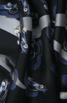 Женский шелковый платок GIORGIO ARMANI черного цвета, арт. 795302/1A103 | Фото 2