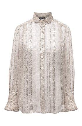 Женская шелковая рубашка GIORGIO ARMANI бежевого цвета, арт. 1WHCCZ05/TZ937   Фото 1