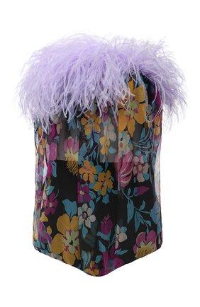 Женское шелковое боди SAINT LAURENT разноцветного цвета, арт. 655736/Y6C99   Фото 1