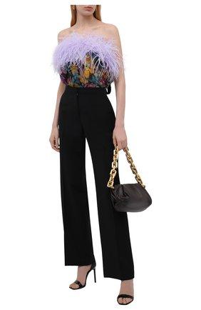 Женское шелковое боди SAINT LAURENT разноцветного цвета, арт. 655736/Y6C99   Фото 2