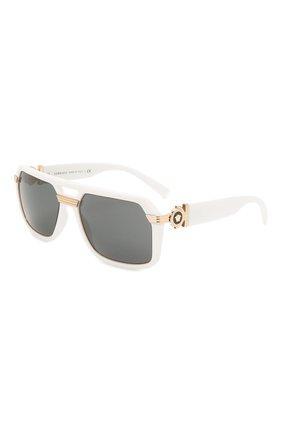 Женские солнцезащитные очки VERSACE белого цвета, арт. 4399-314/87 | Фото 1