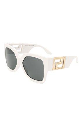 Женские солнцезащитные очки VERSACE белого цвета, арт. 4402-314/87 | Фото 1