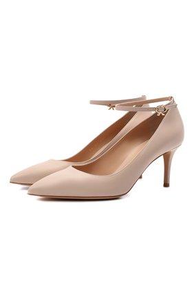 Женские кожаные туфли GIANVITO ROSSI кремвого цвета, арт. G22032.70RIC.NAPM0US | Фото 1