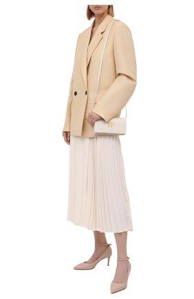 Женские кожаные туфли GIANVITO ROSSI кремвого цвета, арт. G22032.70RIC.NAPM0US | Фото 2