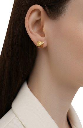 Женские серьги VALENTINO золотого цвета, арт. WW2J0G35/MET | Фото 2