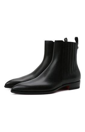 Женские кожаные ботинки SANTONI черного цвета, арт. WTGX59539BI3NLGAN01 | Фото 1