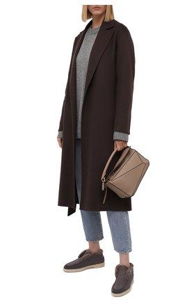 Женские замшевые ботинки SANTONI серого цвета, арт. WUYA58457TISAYHFG80 | Фото 2