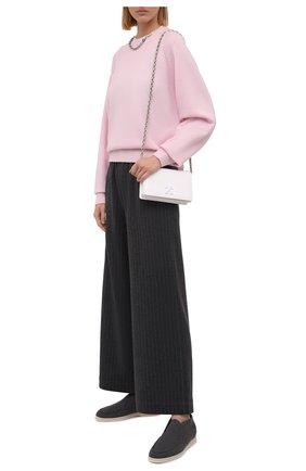 Женские текстильные ботинки open walk LORO PIANA серого цвета, арт. FAL6201 | Фото 2 (Материал внутренний: Текстиль, Натуральная кожа; Материал внешний: Текстиль; Подошва: Плоская; Каблук высота: Низкий; Женское Кросс-КТ: Дезерты-ботинки)