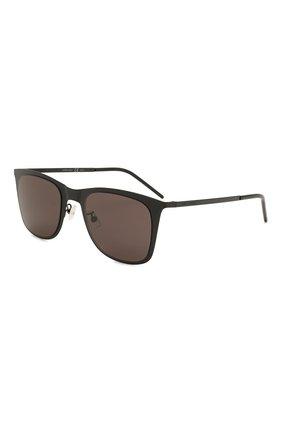 Женские солнцезащитные очки SAINT LAURENT черного цвета, арт. SL 51 SLIM METAL | Фото 1