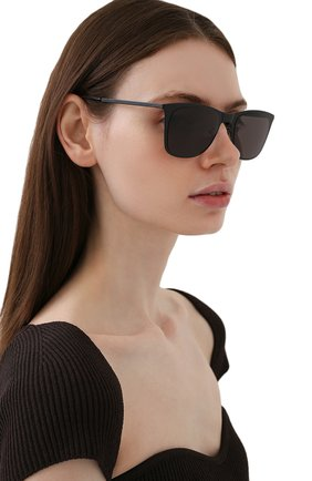 Женские солнцезащитные очки SAINT LAURENT черного цвета, арт. SL 51 SLIM METAL | Фото 2