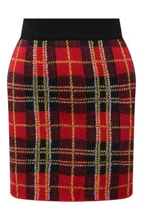 Женская шерстяная юбка REDVALENTINO красного цвета, арт. WR3KG00E/63C | Фото 1 (Материал внешний: Шерсть; Женское Кросс-КТ: Юбка-одежда; Кросс-КТ: Трикотаж; Длина Ж (юбки, платья, шорты): Мини; Стили: Кэжуэл)