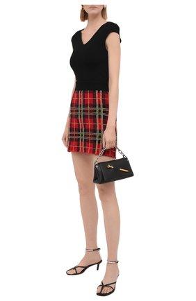 Женская шерстяная юбка REDVALENTINO красного цвета, арт. WR3KG00E/63C | Фото 2 (Материал внешний: Шерсть; Женское Кросс-КТ: Юбка-одежда; Кросс-КТ: Трикотаж; Длина Ж (юбки, платья, шорты): Мини; Стили: Кэжуэл)