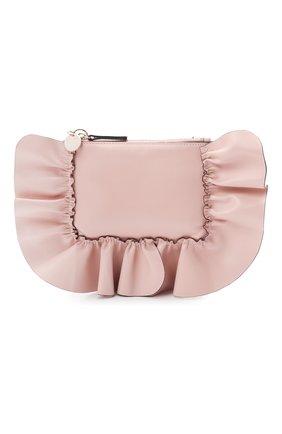 Женская сумка REDVALENTINO светло-розового цвета, арт. WQ2P0B11/VFV   Фото 1 (Размер: mini; Материал: Натуральная кожа; Ремень/цепочка: На ремешке; Сумки-технические: Сумки через плечо; Женское Кросс-КТ: Вечерняя сумка)