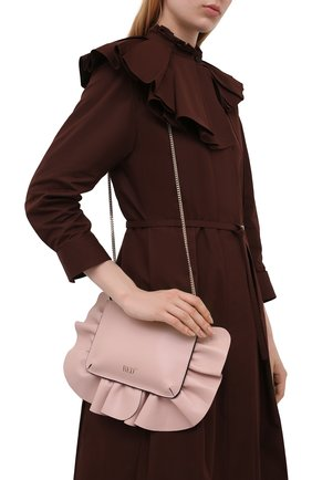 Женская сумка REDVALENTINO светло-розового цвета, арт. WQ2P0B11/VFV   Фото 2 (Размер: mini; Материал: Натуральная кожа; Ремень/цепочка: На ремешке; Сумки-технические: Сумки через плечо; Женское Кросс-КТ: Вечерняя сумка)